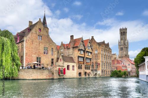 Wall Murals Bridges Rozenhoedkaai canal, Bruges, Belgium
