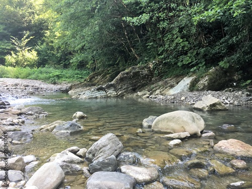 Foto op Plexiglas Rivier горная река 1