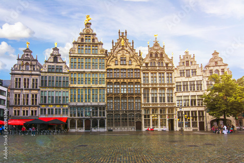 Poster Antwerp Antwerp market square, Belgium