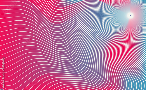 Fotografie, Obraz gravity waves around a point in space illustration in red shades
