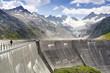 Staumauer am Oberarsee, Oberaargletscher, Schweiz