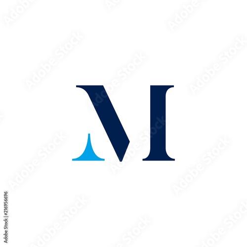 m letter initial logo vector Wall mural
