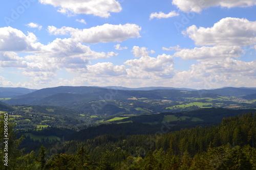 Deurstickers Blauwe hemel Landscape