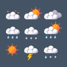 Pixel Art Vector Weather Appli...