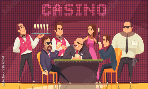 Photo Stands Music Band Luxury Casino Indoor Background