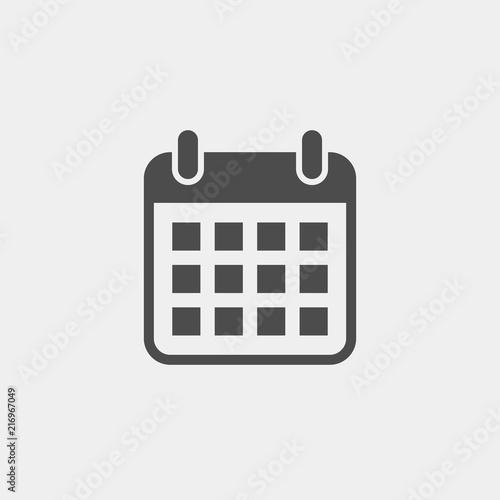 Calendar flat vector icon Canvas Print