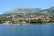 Scenic view of Herceg Novi coastline from Kotor bay, Montenegro.