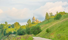 The Church Of Saints Boris And Gleb On The Hill In Staritsa