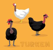 Chicken Turken Cartoon Vector ...
