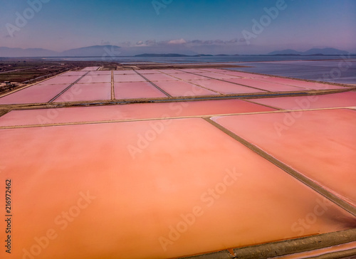 Papiers peints Orange eclat Salt field Albania
