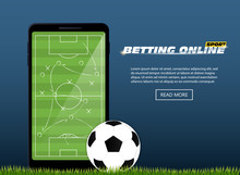 Concept For Web Banner Sports Betting Statistics. Flat Design Icons For Sports Theme. Football Betting. Vector EPS10