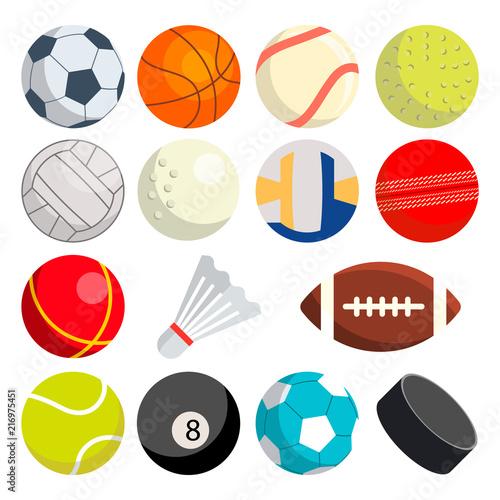 Fotomural Sport Balls Set Vector
