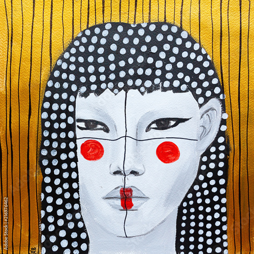 obraz-olejny-na-plotnie-kobieta-z-makijazem
