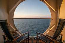 Balcony View On The Cruise Ship
