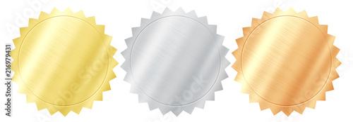 Fotografía  Set of various metal quality seals