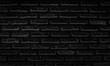black brick wall and texture background