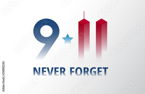 Photo  Patriot Day September 11 poster vector illustration