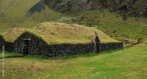 Keuken foto achterwand Historisch geb. Heimaey, ancient house, south of Iceland