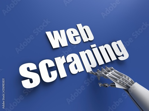 Obraz Web scraping (data extraction) - fototapety do salonu