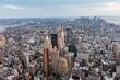 New York Cityscape. Aerial view.Panoramic. Manhattan.