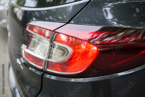 Keuken foto achterwand Vintage cars Modern car headlights.