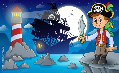 Poster Voor kinderen Pirate boy topic image 3