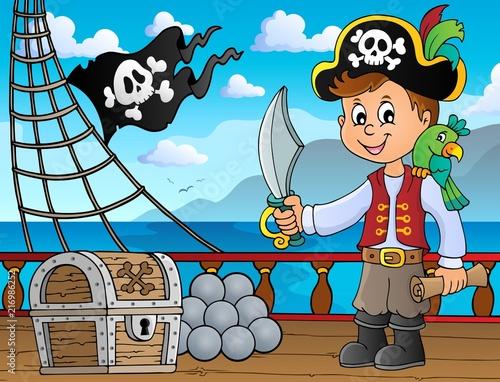 Poster Voor kinderen Pirate boy topic image 4