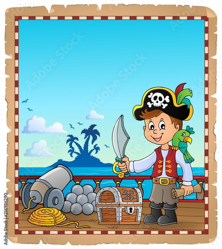 Recess Fitting For Kids Pirate boy topic parchment 1