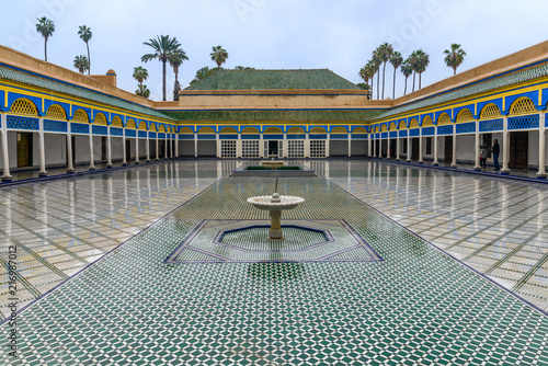 Fountain in El Badi Palace, Marrakech, Morocco Canvas Print