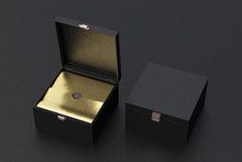 Open And Closed Square Gift Bo...