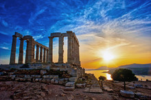 The Temple Of Poseidon At Soun...