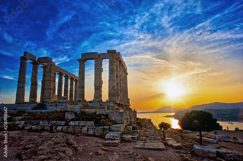 Poster Rudnes The Temple of Poseidon at Sounion, Greece, near Athens