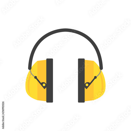 Protective ear muffs Wallpaper Mural