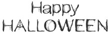 Happy Halloween Spider Web Text Greeting Card