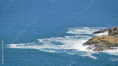 Rocks And Ocean. La Coruña, Spain. View from Hercules Tower.. Rocks And Ocean. La Coruña. Spain. View from Hercules Tower. A Corunna, Coruna Province.