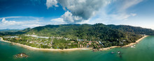 Panoramic Aerial Drone View Of...