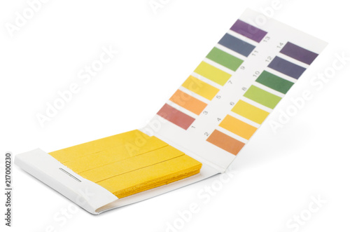 Litmus PH test strips and color samples Wallpaper Mural