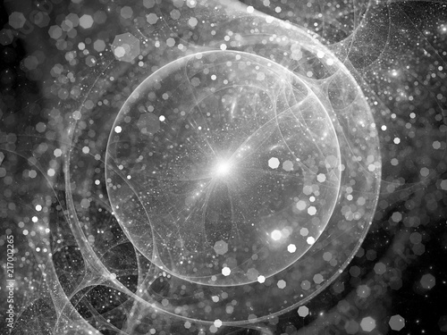 Fotografiet Gravitational wave source sci-fi effect