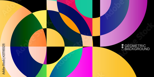 Geometric colorful abstract...