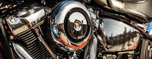 Shiny, Chrome Motorbike Engine