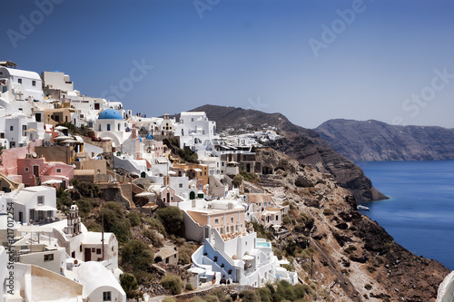 Oia, Santorini, Greece. Santorini - one of the most visited places in Greece
