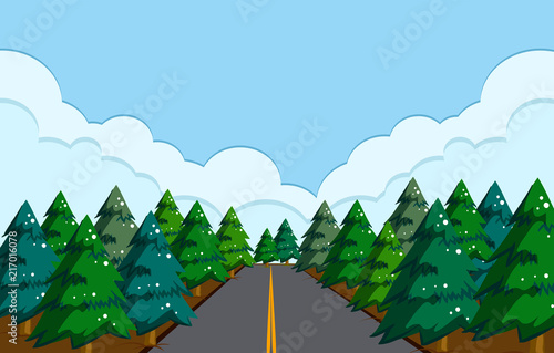 Spoed Foto op Canvas Groene A beautiful road landscape