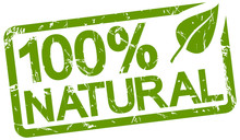 Green Stamp With Text 100% Nat...