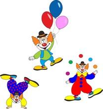 Cute Clown Character Design Se...