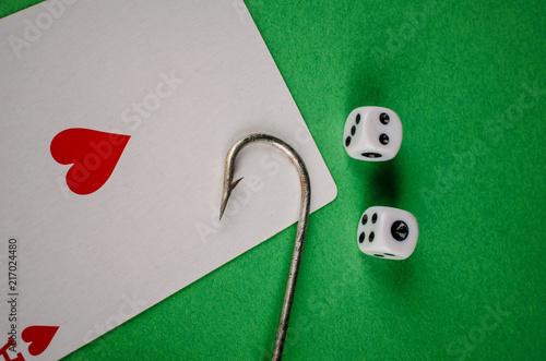 Poster  Gambling addiction concept