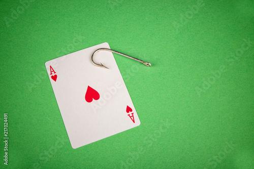 фотография  Gambling addiction concept