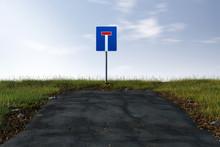 Straße Endet In Einer Sackgasse