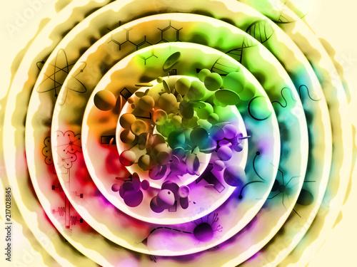 Fotografia, Obraz  Convergent Evolution - Space - Time - Life - Consciousness