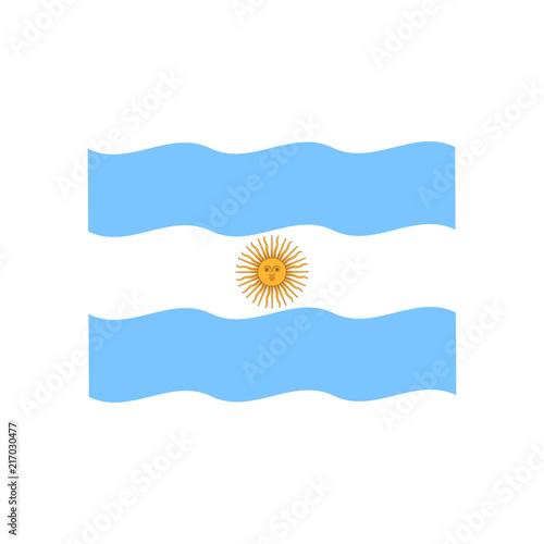 Fotografie, Tablou  Argentina flag vector