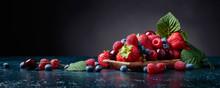 Berries Closeup Colorful Assor...
